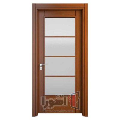 درب اتاق خواب شیشه خور،اهورا درب
