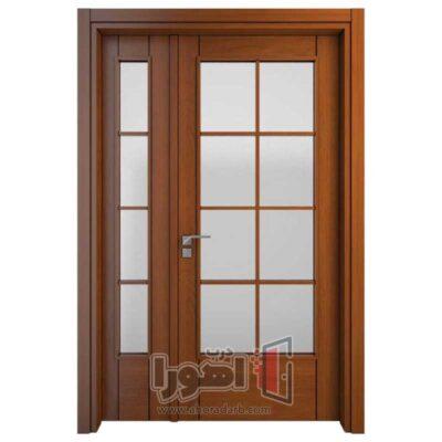 درب داخلی شیشه خور ساختمان،اهورا درب