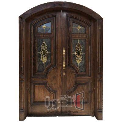 درب لابی تمام چوب،اهورا درب